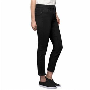 Kenneth Cole Jess Skinny Black Frayed Hems
